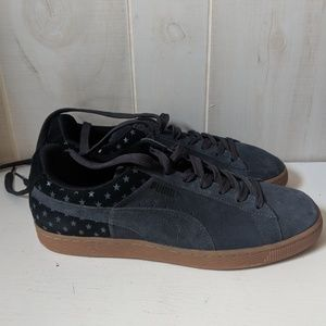PUMA Men's Suede Gray Stars sneakers sz 11